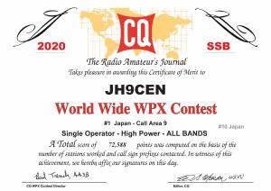 Jh9cen_cqwpx_2020_ssb_certificate